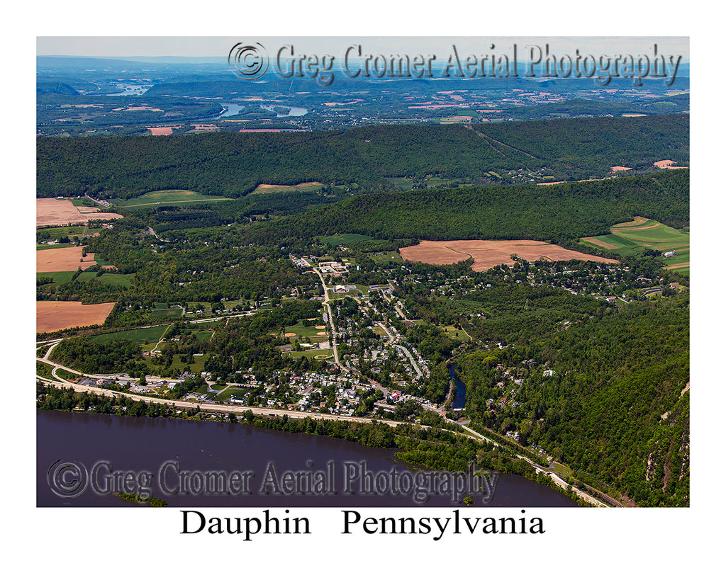 Aerial Photo of Dauphin, Pennsylvania