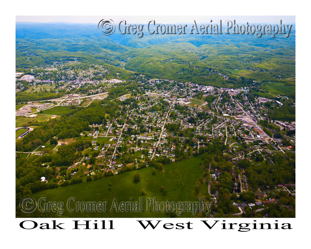 Aerial Photo of Oak Hill, West Virginia