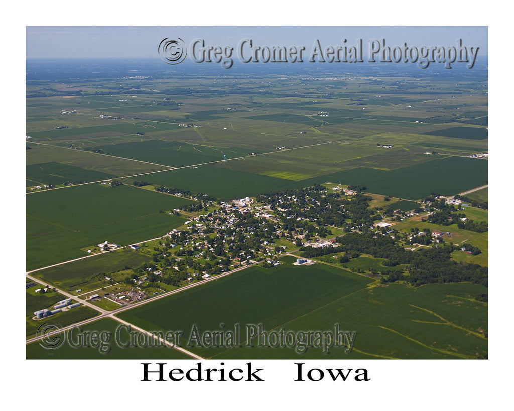 Aerial Photo of Hedrick Iowa