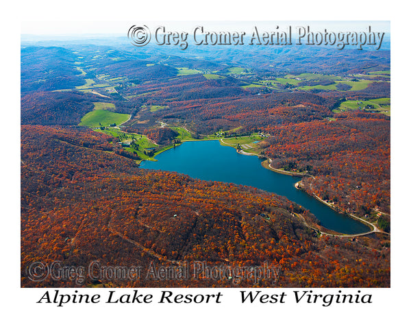Aerial Photo of Alpine Lake Resort - Terra Alta, West Virginia