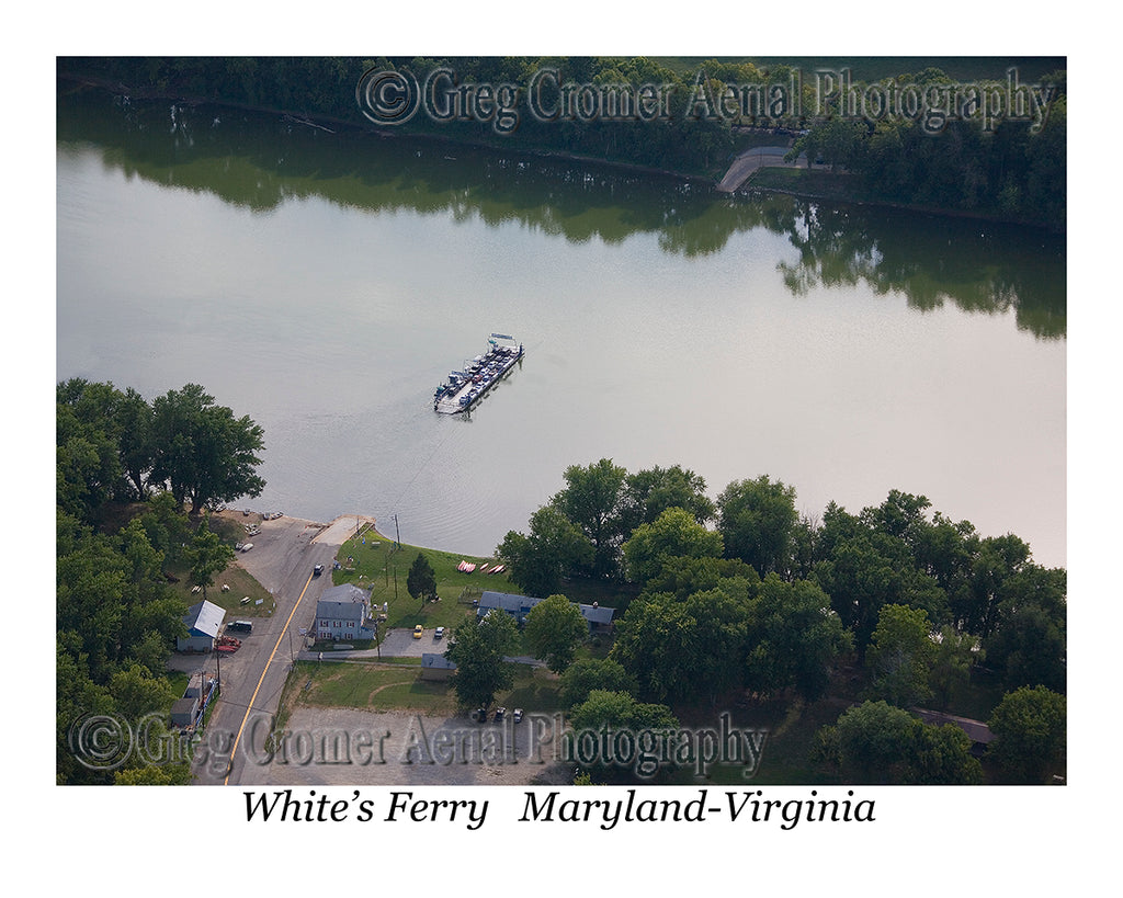 Aerial Photo of White's Ferry - Montgomery County, Maryland