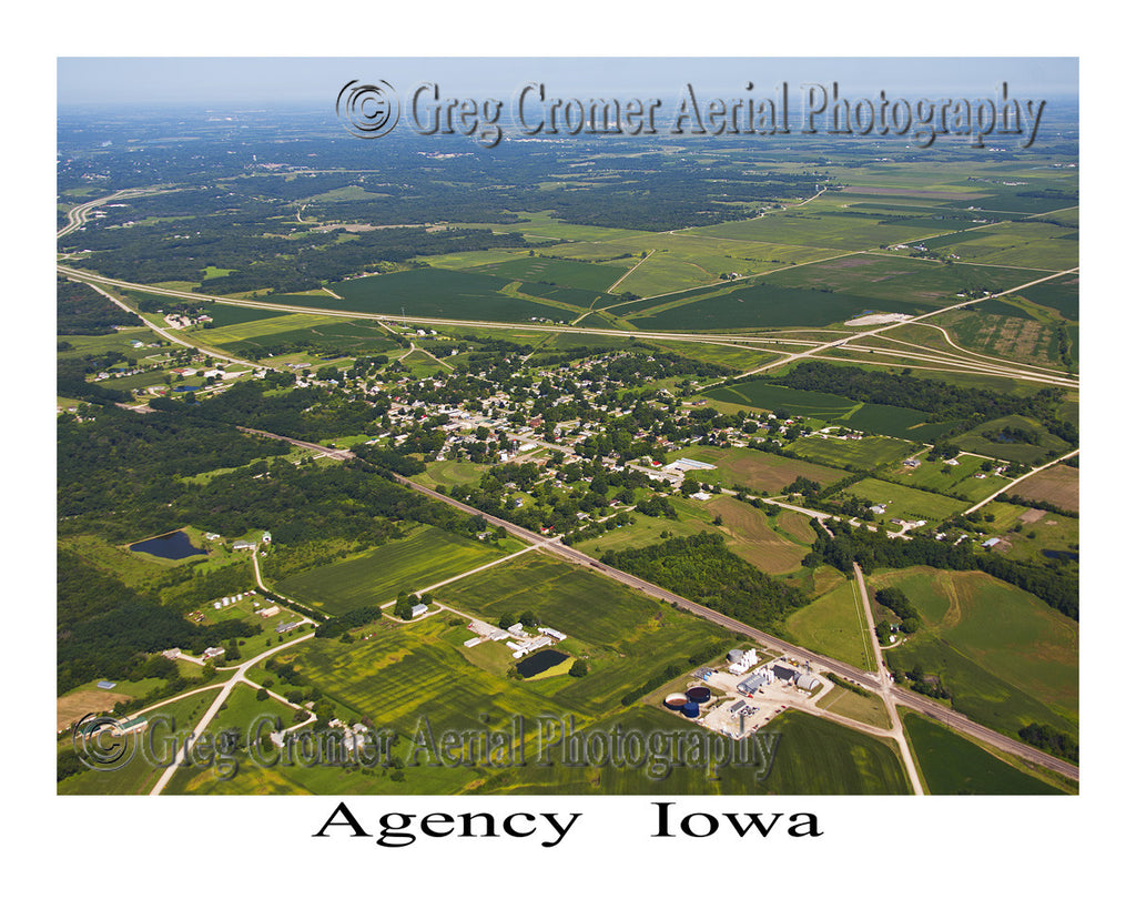 Aerial Photo of Agency, Iowa