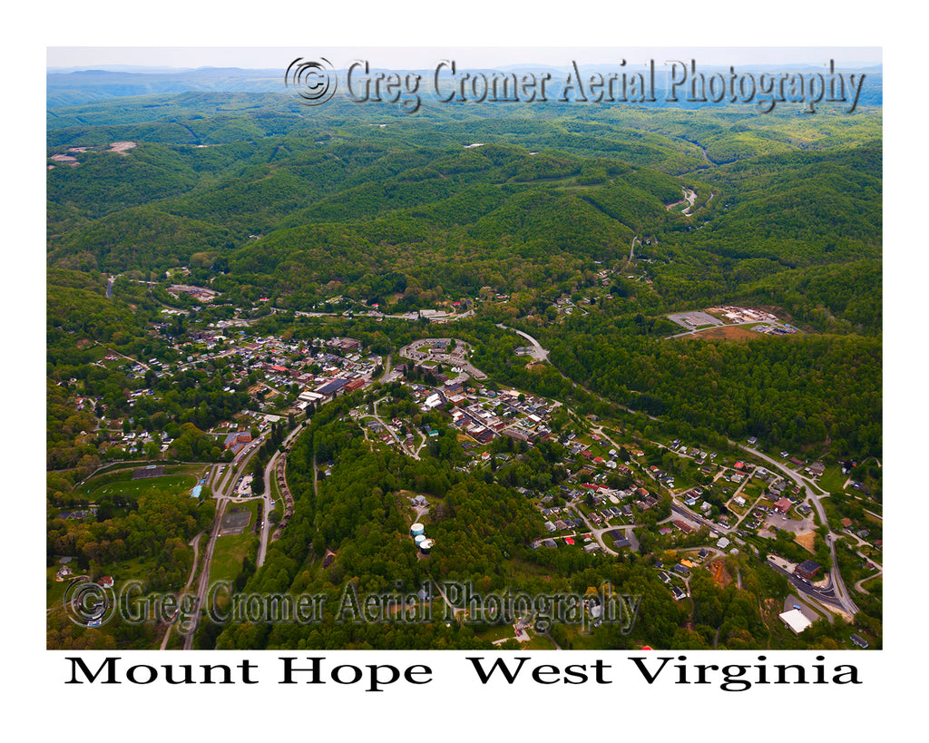 Aerial Photo of Mount Hope, West Virginia