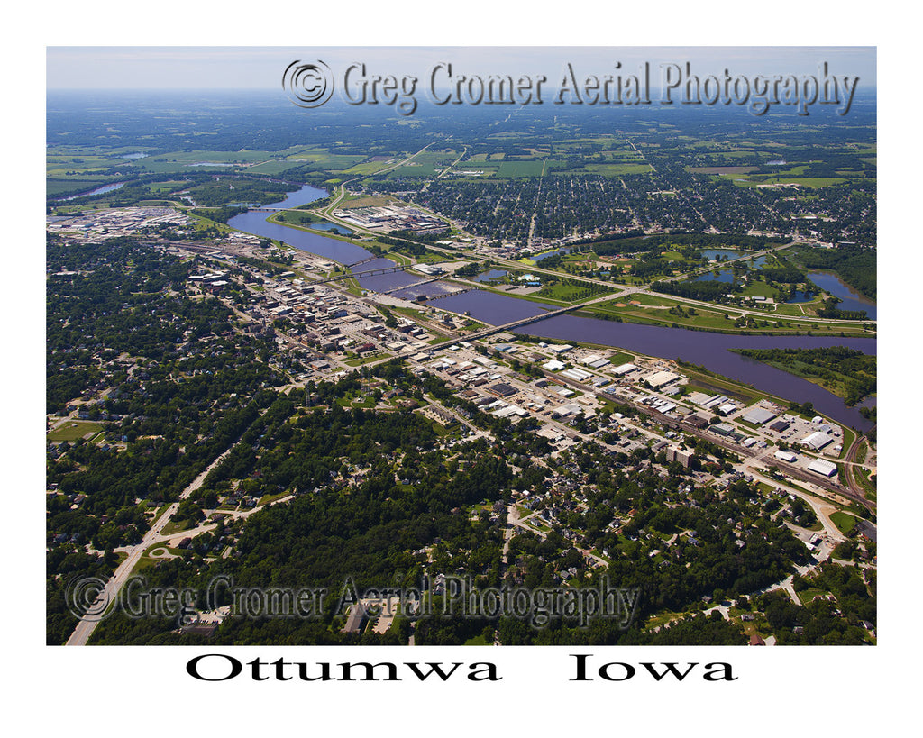 Aerial Photo of Ottumwa Iowa