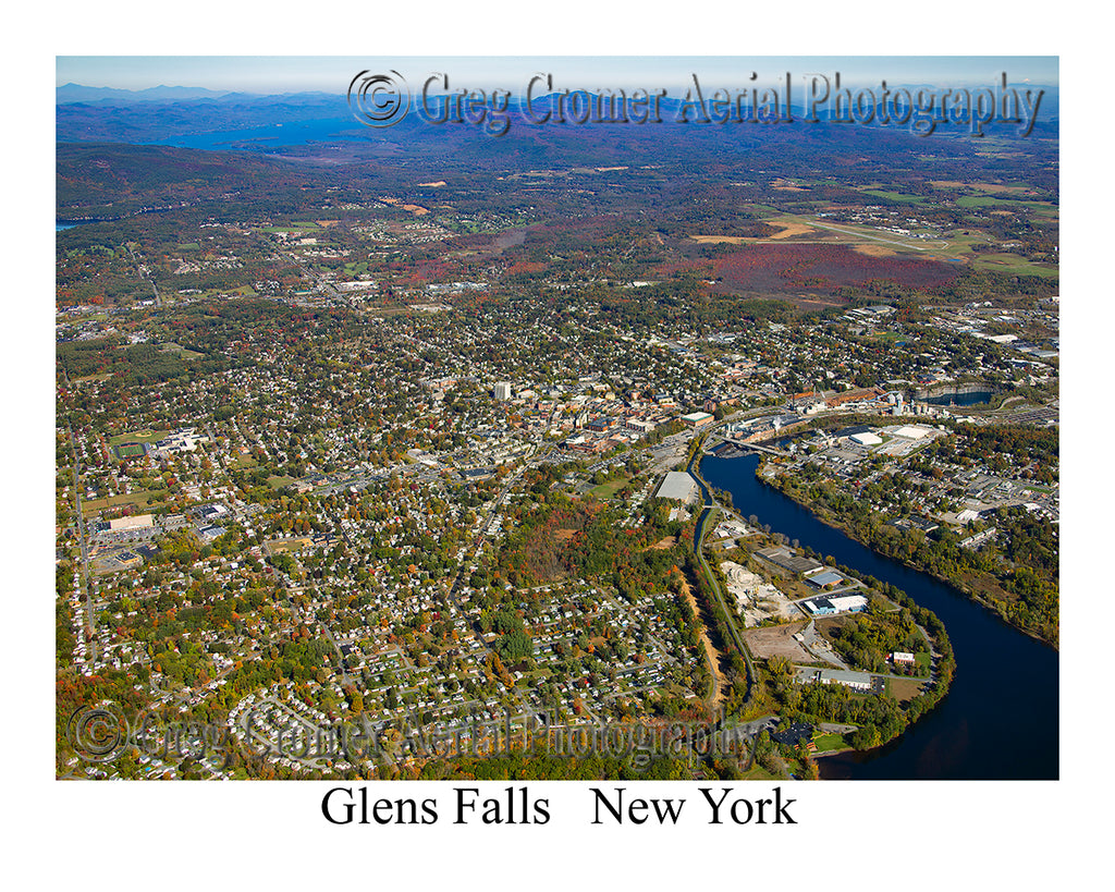 Aerial Photo of Glens Falls, New York