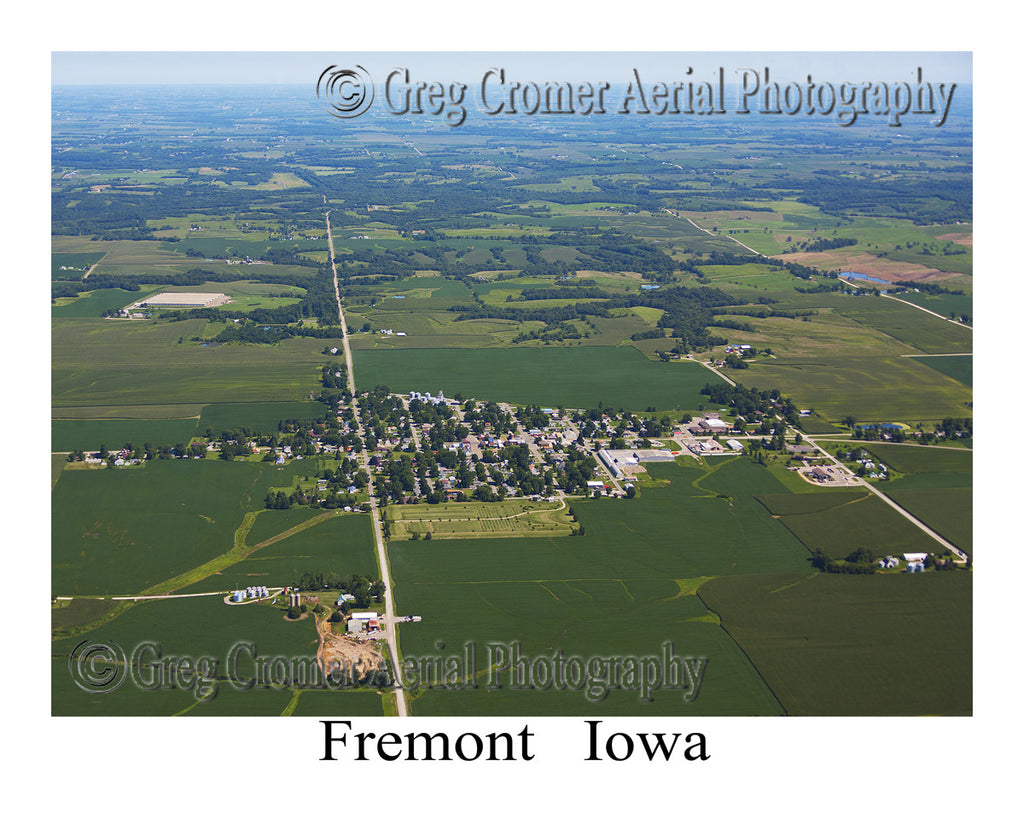Aerial Photo of Fremont Iowa