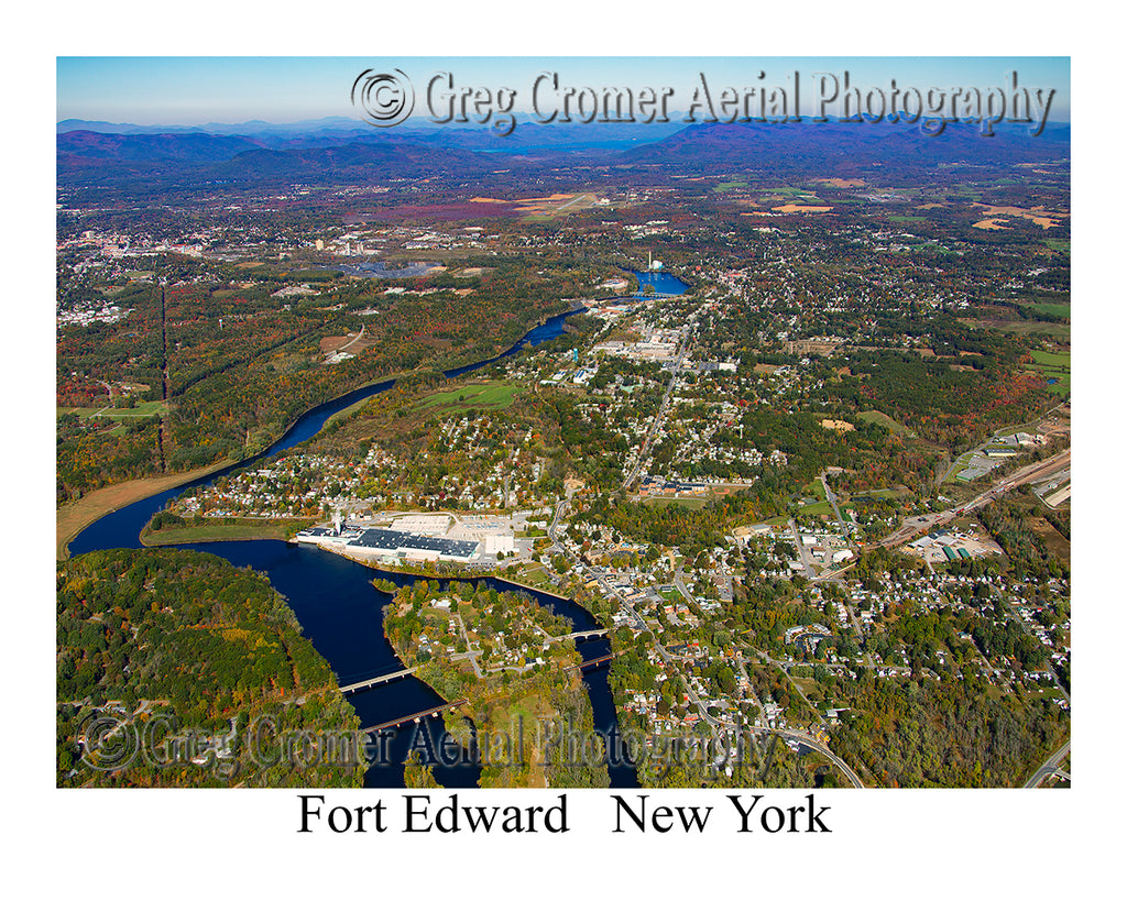 Aerial Photo of Fort Edward, New York
