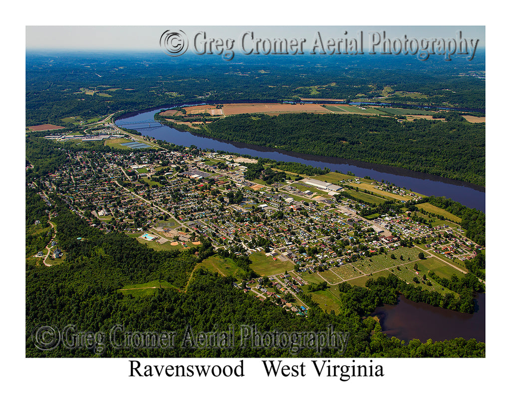 Aerial Photo of Ravenswood, West Virginia