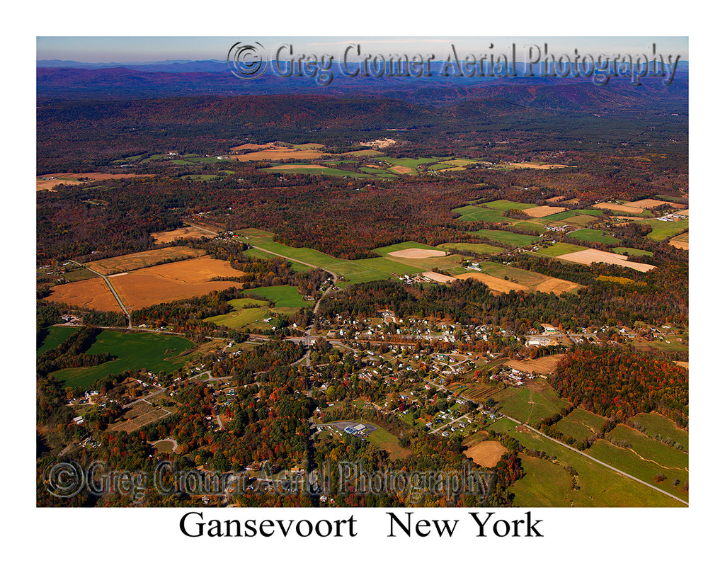 Aerial Photo of Gansevoort, New York