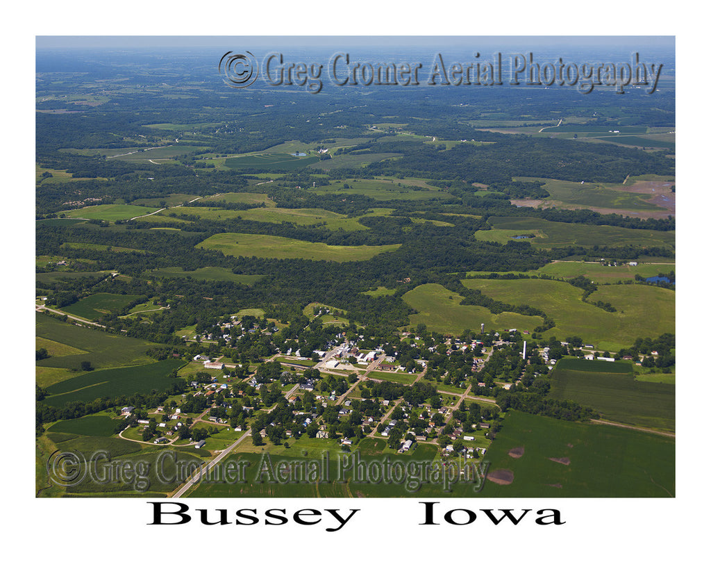 Aerial Photo of Bussey Iowa