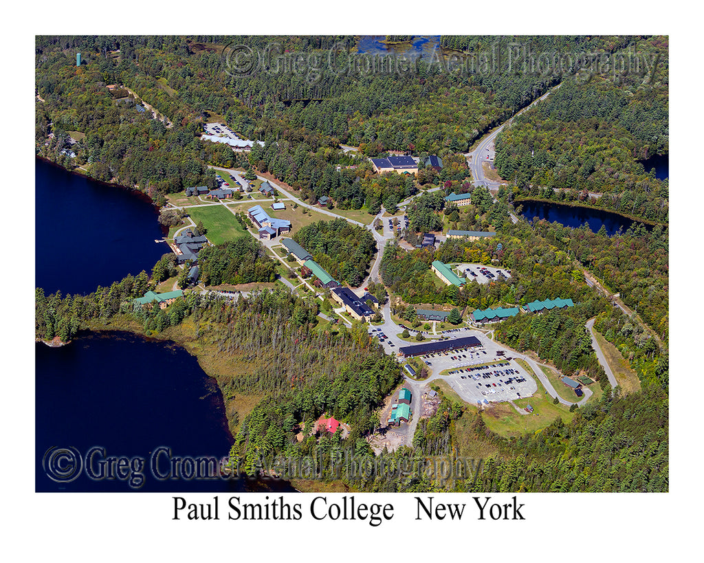 Aerial Photo of Paul Smiths College, New York