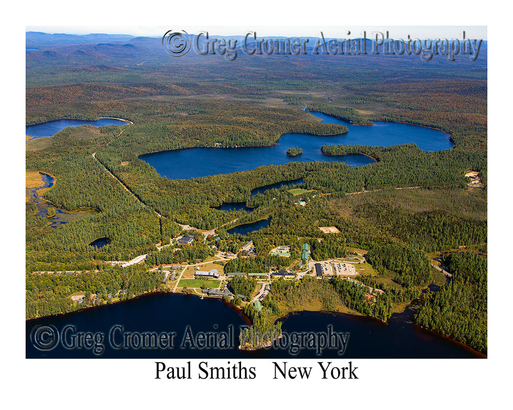 Aerial Photo of Paul Smiths, New York