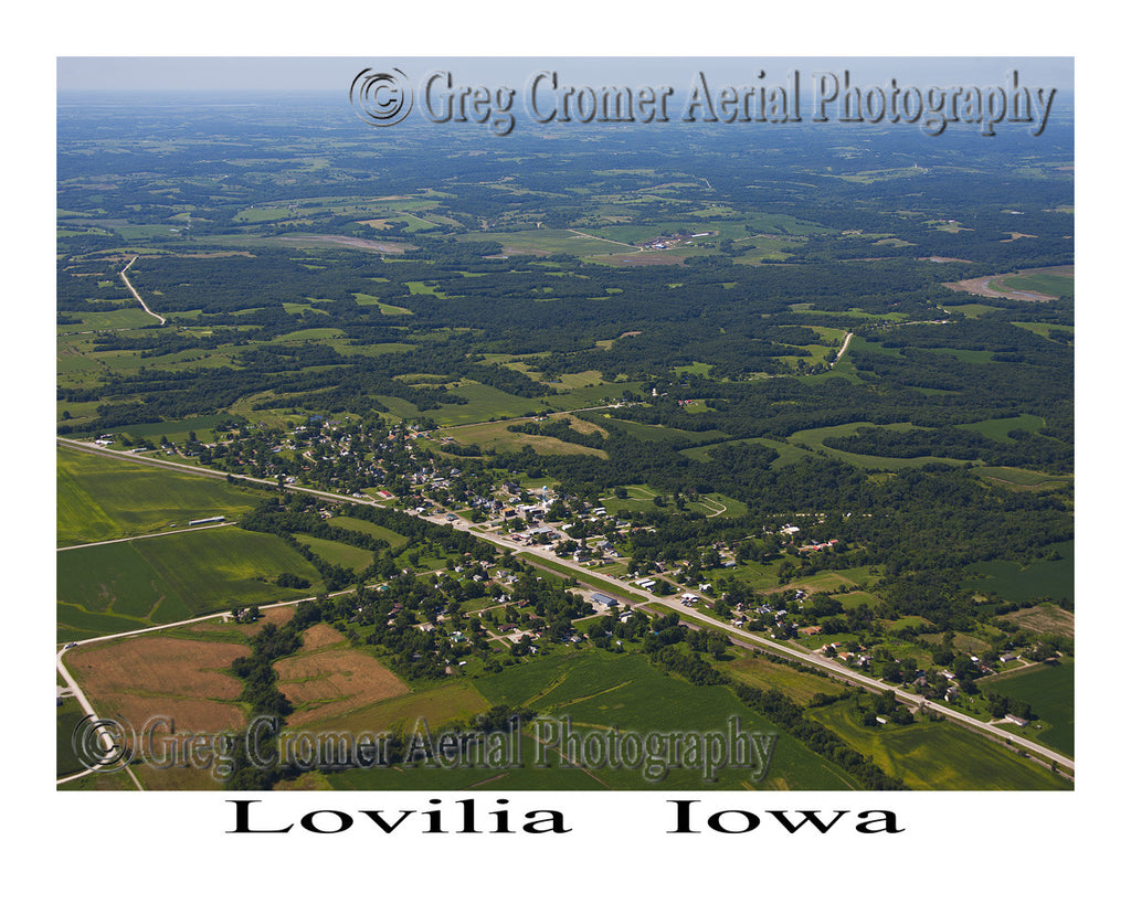 Aerial Photo of Lovilia Iowa