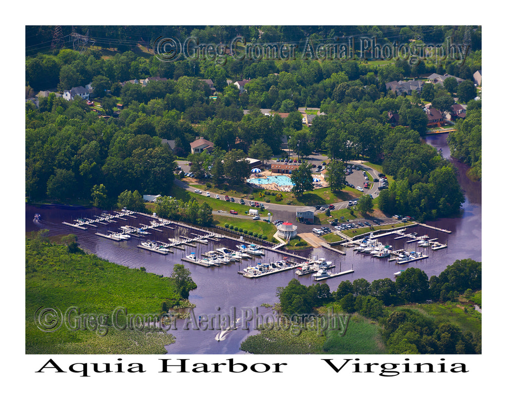Aerial Photo of Aquia Harbor, Virginia