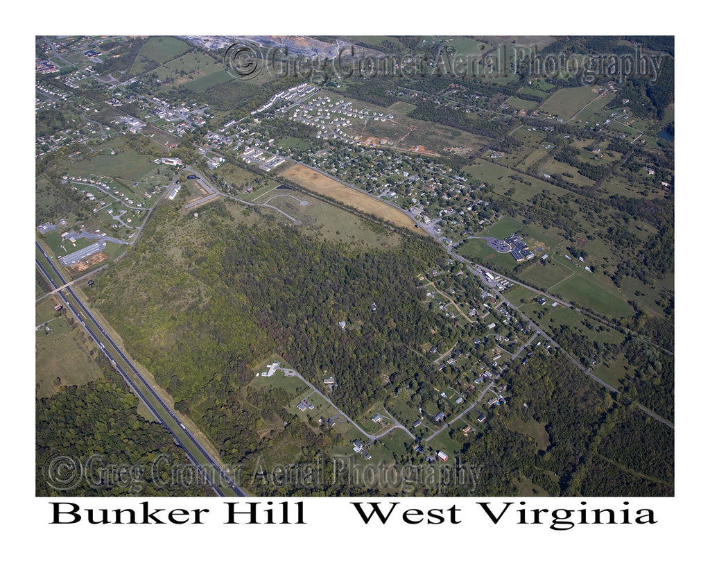 Aerial Photo of Bunker Hill, West Virginia