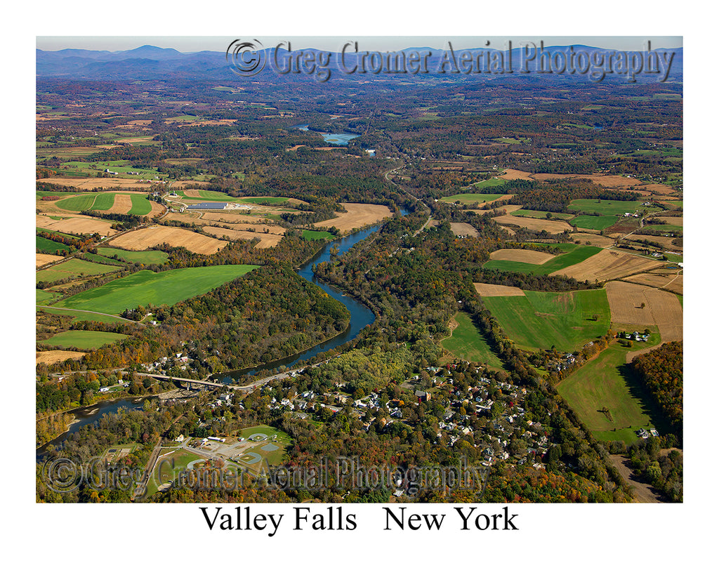 Aerial Photo of Valley Falls, New York
