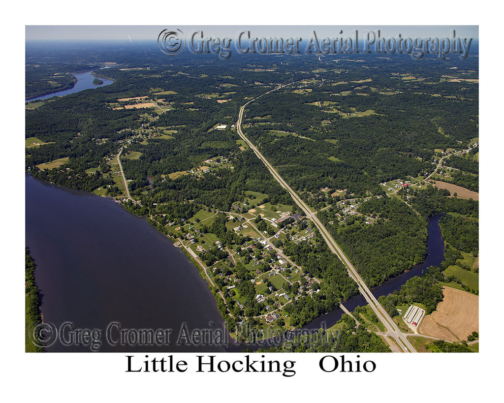 Aerial Photo of Little Hocking, Ohio