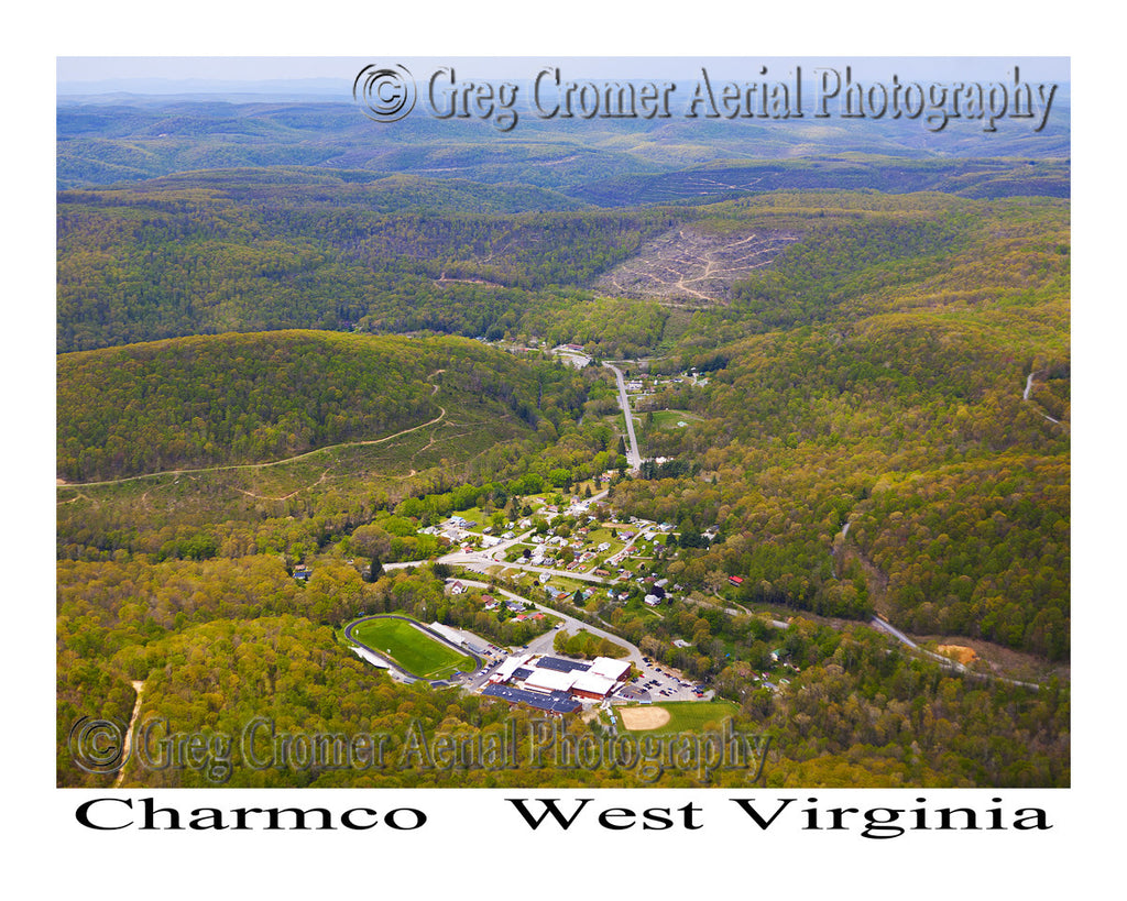 Aerial Photo of Charmco, West Virginia