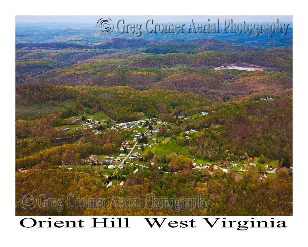 Aerial Photo of Orient Hill, West Virginia