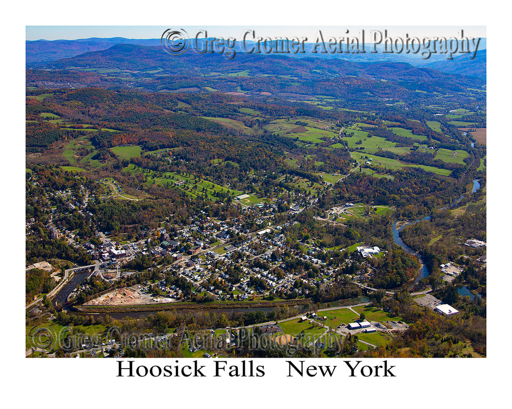 Aerial Photo of Hoosick Falls, Vermont