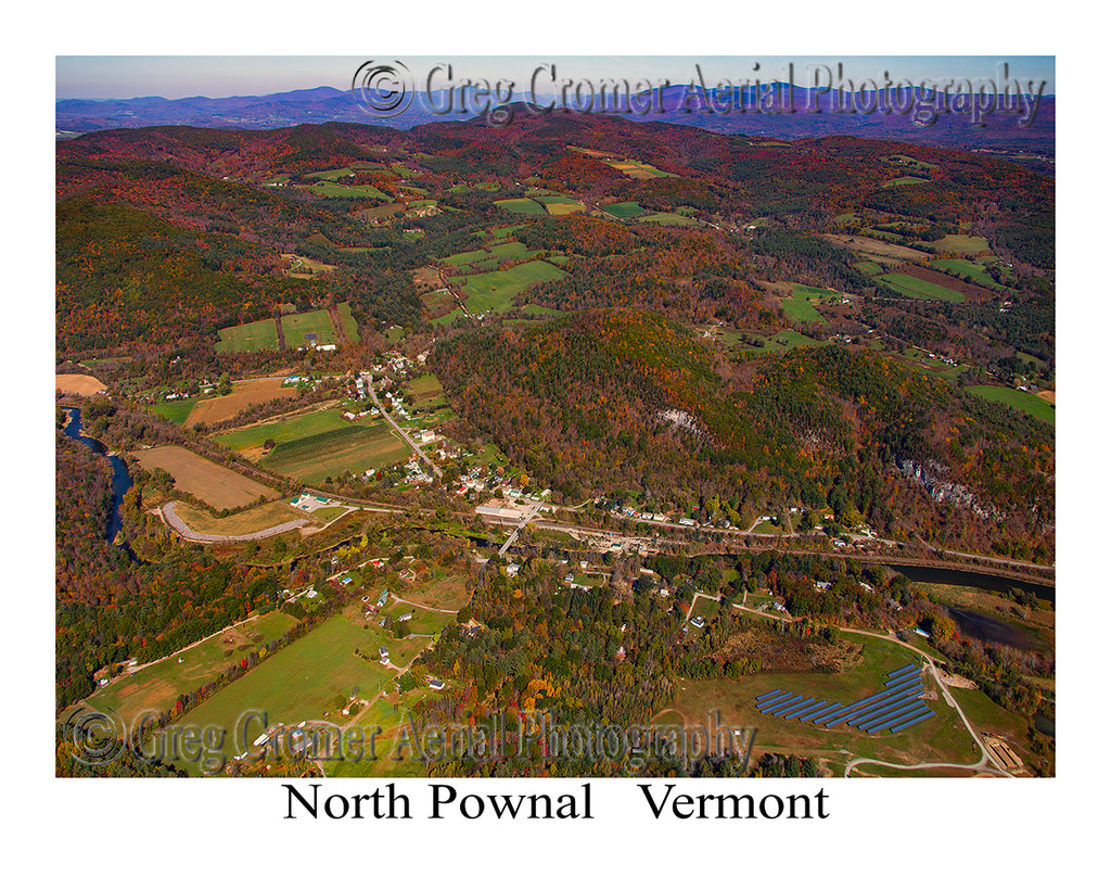 Aerial Photo of North Pownal, Vermont