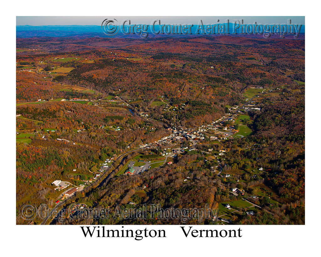 Aerial Photo of Wilmington, Vermont