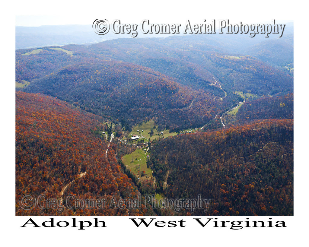 Aerial Photo of Adolph, West Virginia