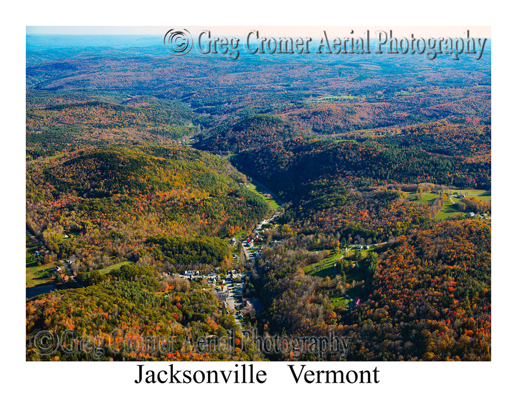 Aerial Photo of Jacksonville, Vermont