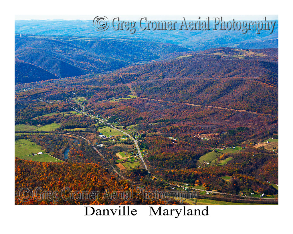 Aerial Photo of Danville, Maryland