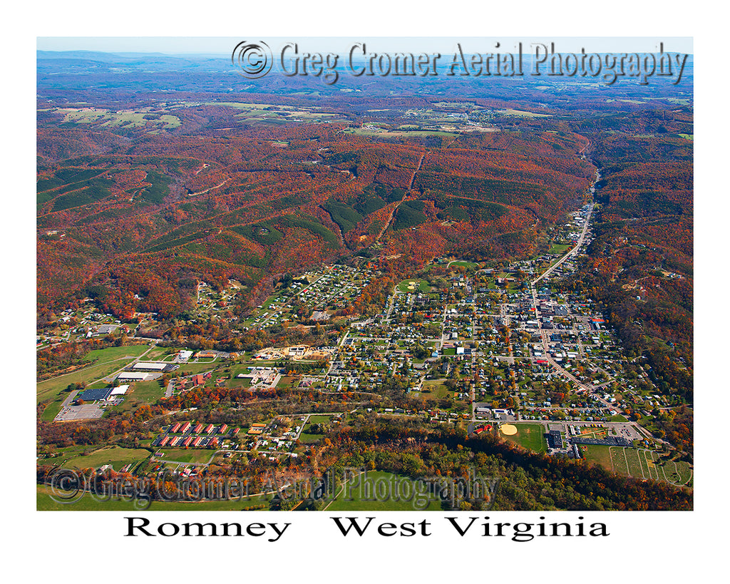 Aerial Photo of Romney, West Virginia