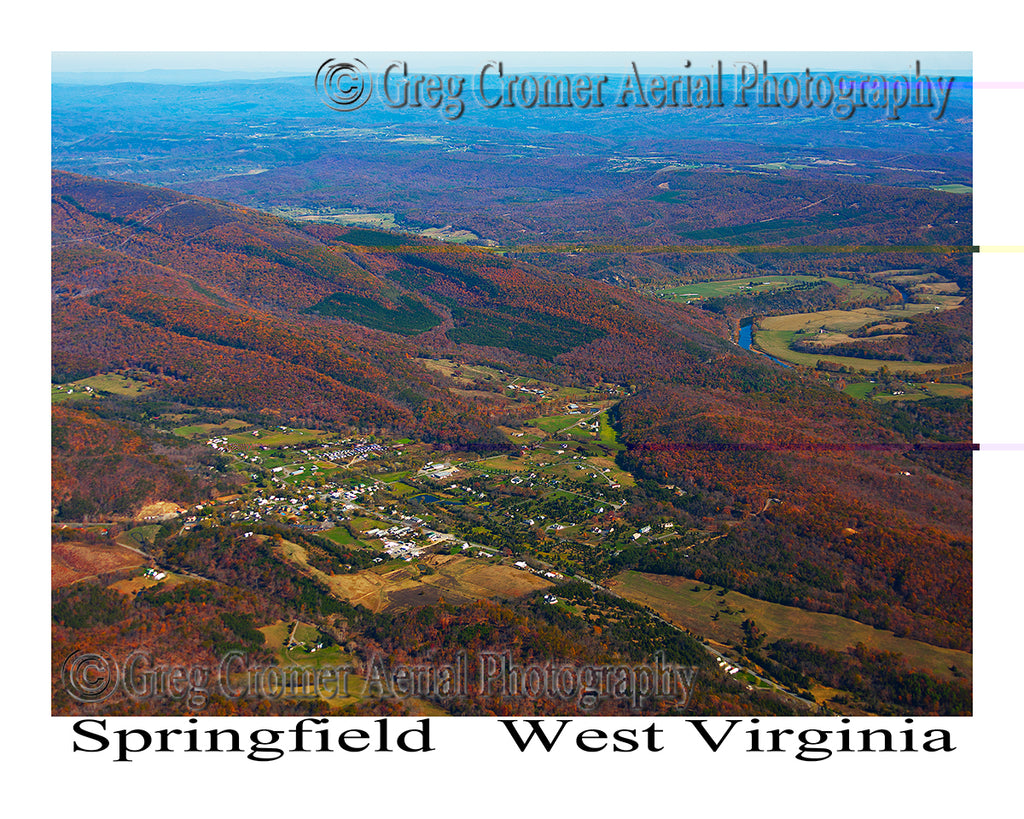 Aerial Photo of Springfield, West Virginia