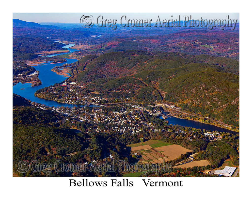Aerial Photo of Bellows Falls, Vermont