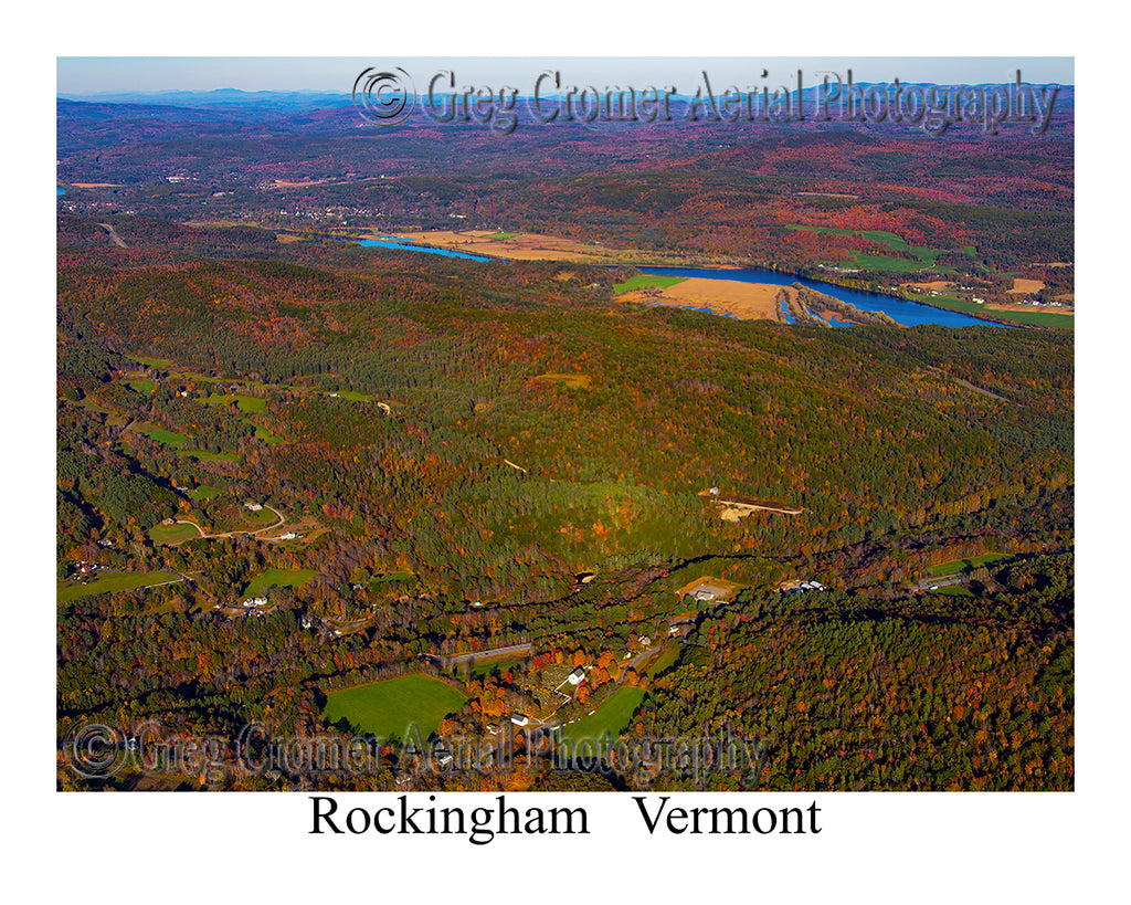 Aerial Photo of Rockingham, Vermont