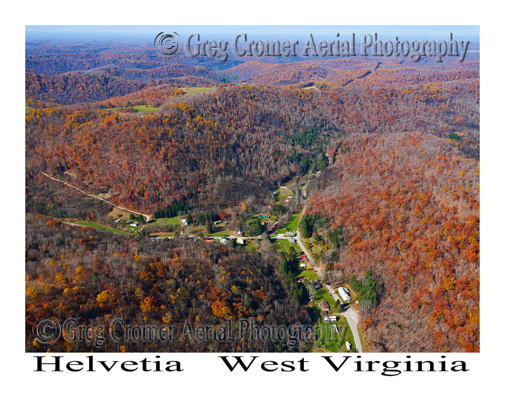 Aerial Photo of Helvetia, West Virginia
