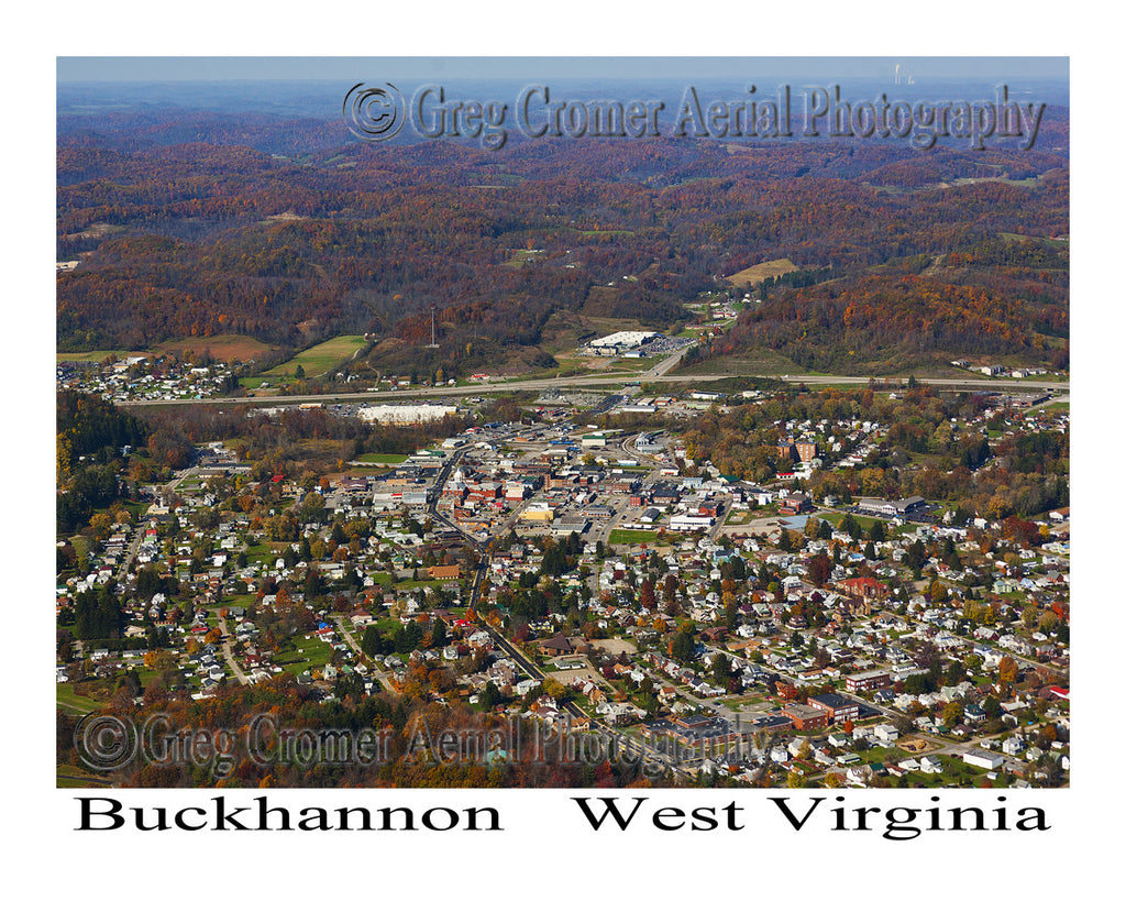 Aerial Photo of Buckhannon, West Virginia - Downtown View
