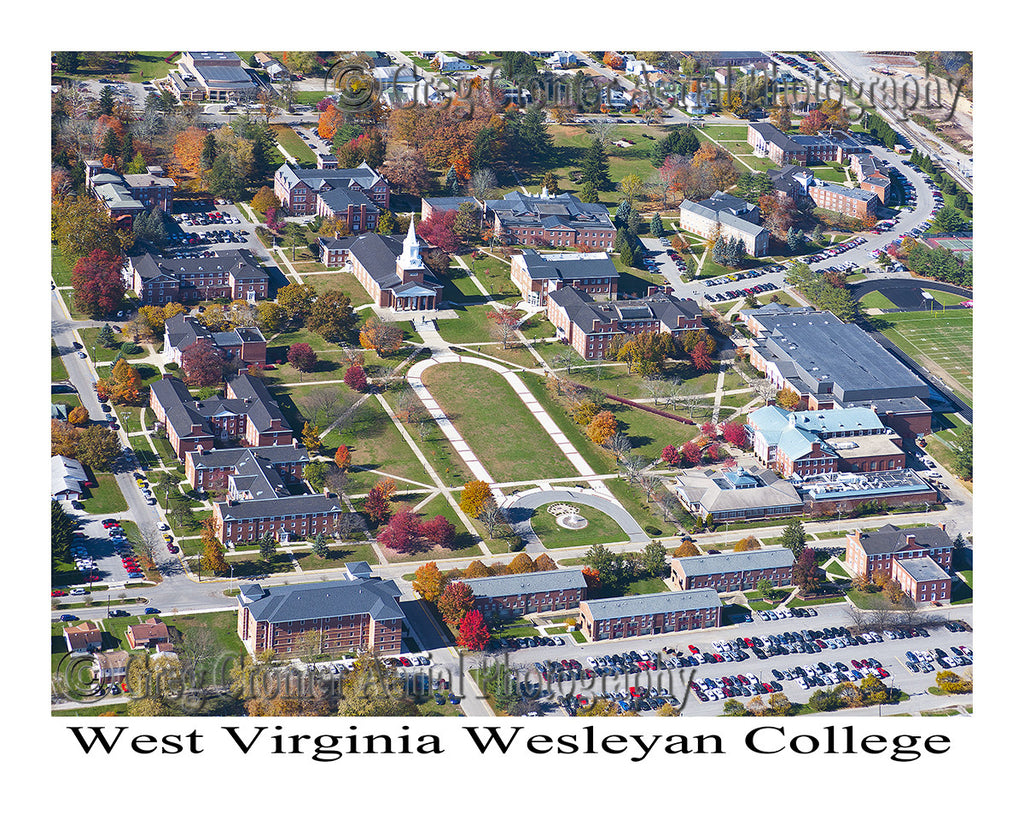 West Virginia Wesleyan College >> Aerial Photo Of West Virginia Wesleyan College Buckhannon West Virginia 8x10