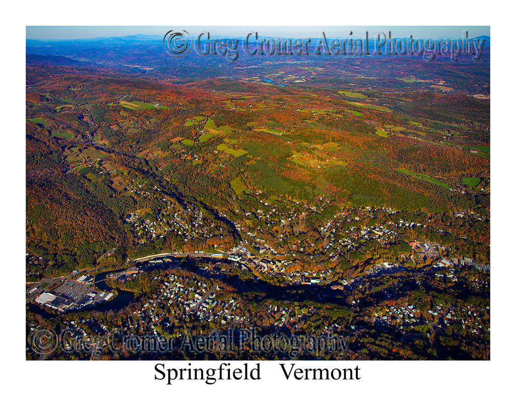 Aerial Photo of Springfield, Vermont