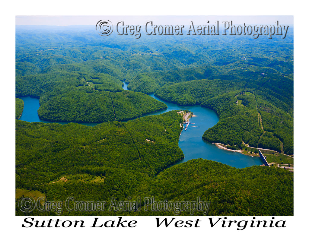 Aerial Photo of Sutton Lake, West Virginia