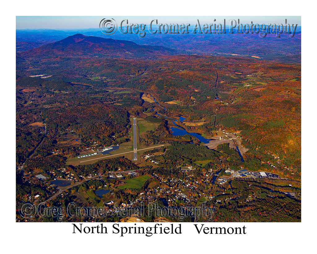 Aerial Photo of North Springfield, Vermont