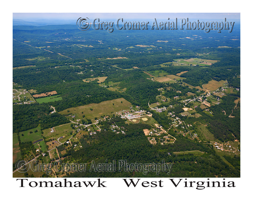 Aerial Photo of Tomahawk, West Virginia