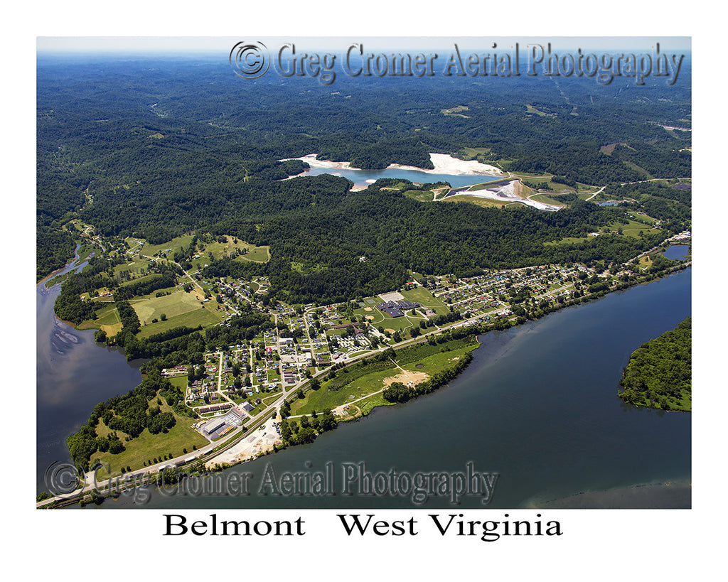 Aerial Photo of Belmont, West Virginia