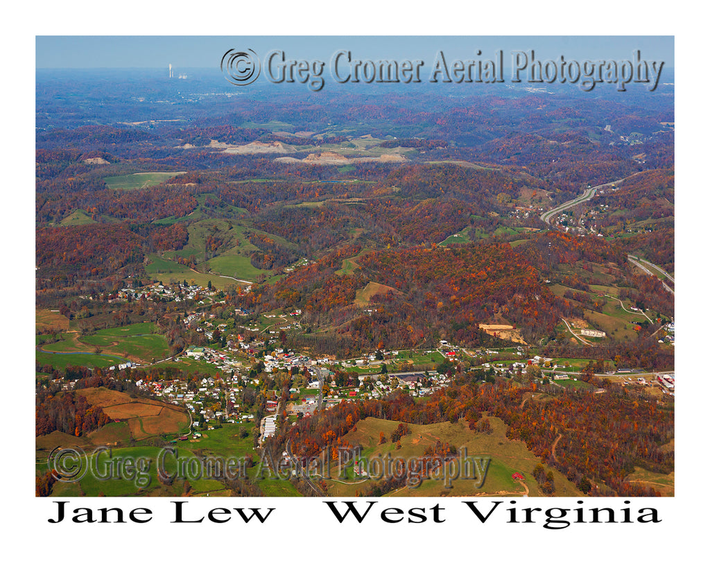 Aerial Photo of Jane Lew, West Virginia