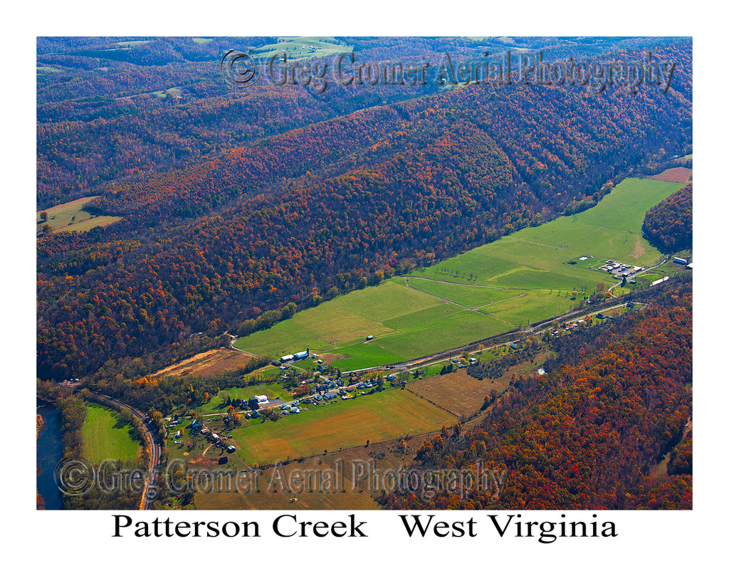 Aerial Photo of Pattersons Creek, West Virginia (cropped version)