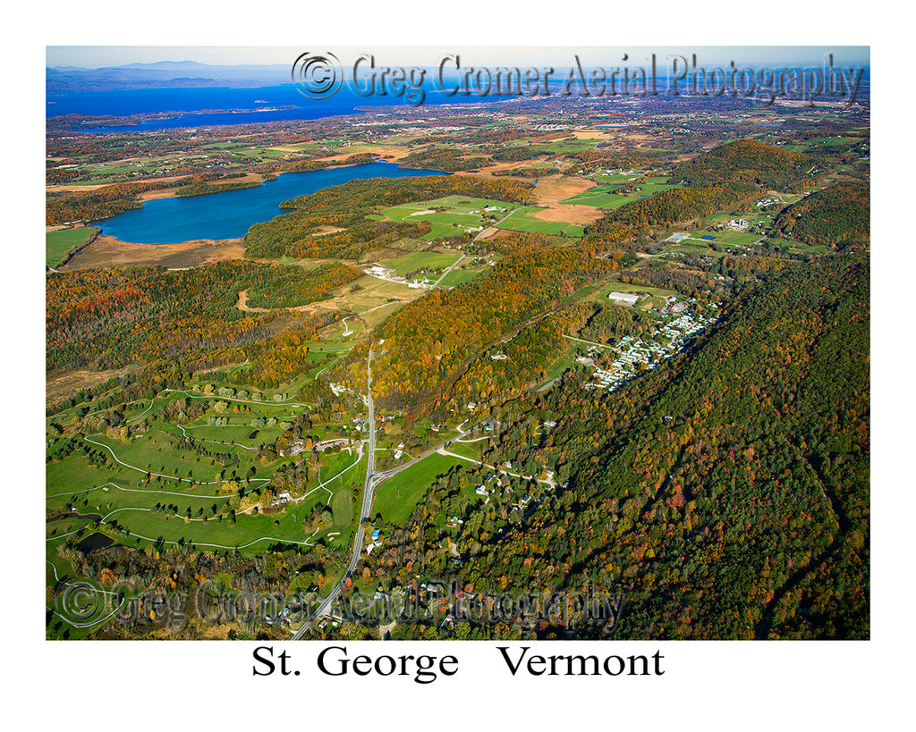 Aerial Photo of St. George, Vermont