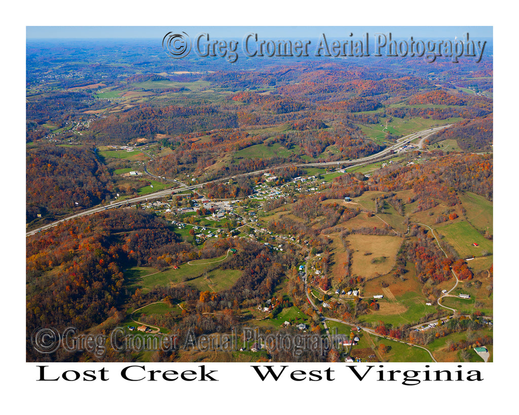 Aerial Photo of Lost Creek, West Virginia