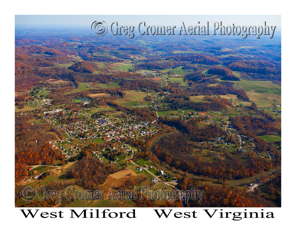 Aerial Photo of West Milford, West Virginia