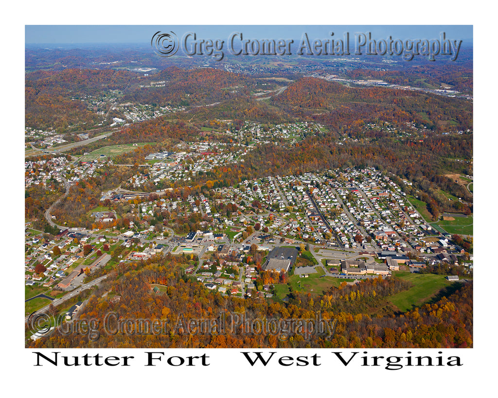 Aerial Photo of Nutter Fort, West Virginia