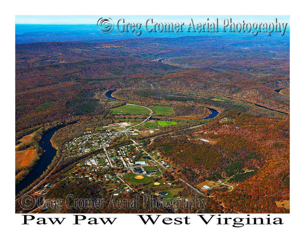Aerial Photo of Paw Paw, West Virginia