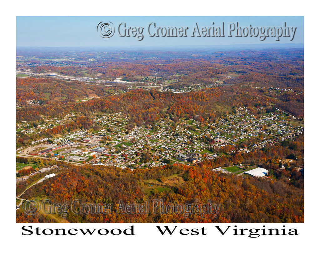 Aerial Photo of Stonewood, West Virginia