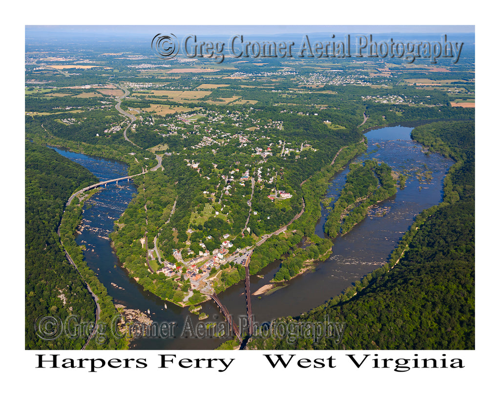 Aerial Photo of Harpers Ferry, West Virginia